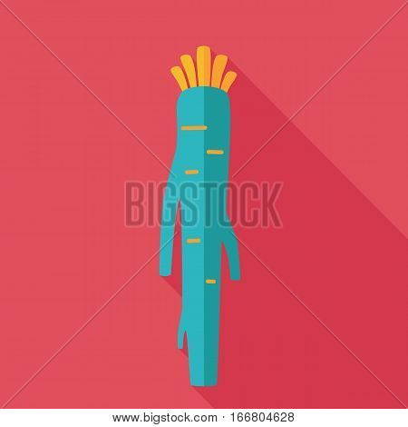Horseradish flat icon. Vegetable root vector illustration