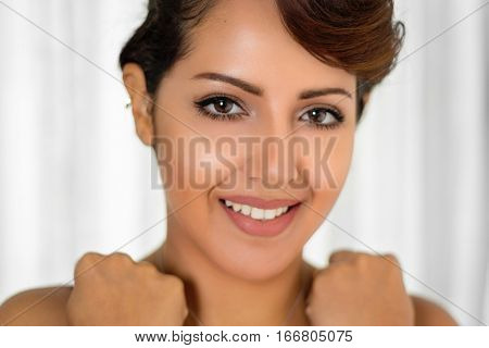 Beautiful smiling middle eastern woman
