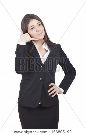 Businesswoman Gesturing