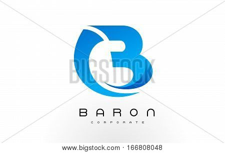 B Logo Blue .B Letter Icon Design Vector Illustration.