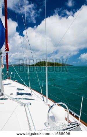 Sailboat On The Great Barrier Reef