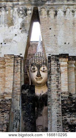 Historical Park Wat Sri Chum Temple Center Approach Sukhothai