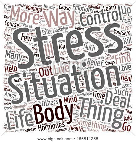 How You Can Find Stress Relief text background wordcloud concept