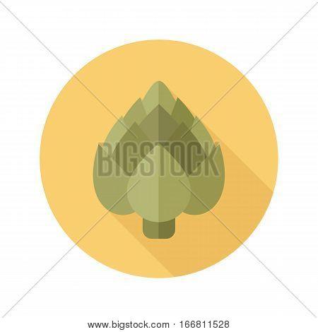 Artichoke flat icon. Vegetable vector illustration eps 10