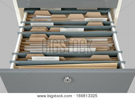 Filing Cabinet Drawer Open Tax