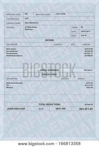 Paycheck Fictitious