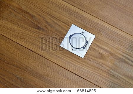 Cap Of A Electrical Outlet On The Floor