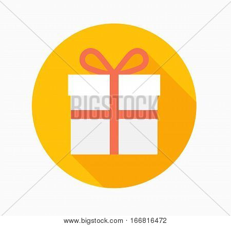 gift icon box birthdaypackage decorative design flat vector stock