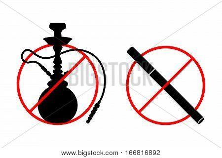 Рисунки кальяна и электронной сигареты