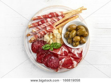 Cold Smoked Meat And Cheese Plate