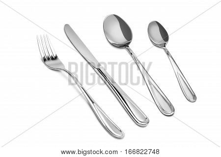 the kitchen cutlery isolated on white background
