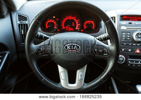 DNIPRO, UKRAINE - OCTOBER 23 2015: KIA CEED WHEEL CLOSE