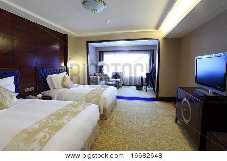bed in modern living room