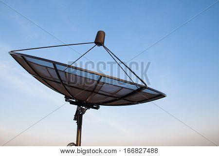 Satellite dish blue sky communication technology network