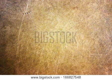 Bronze Leaf, Metallic Texture Of Golden Color