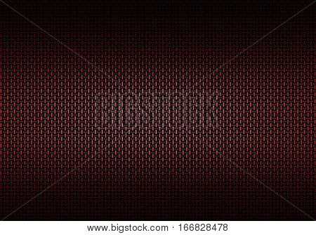 Abstract modern red carbon fiber textured material design for background graphic design
