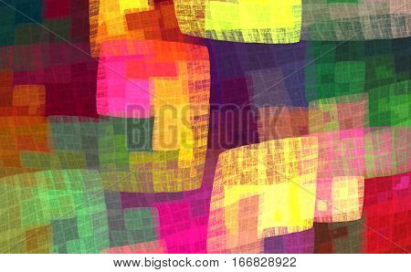 Multicolor colorful checkered pattern for the fabric handkerchief blankets bedspreads bed linen. Fractal bandanna pattern design 6.