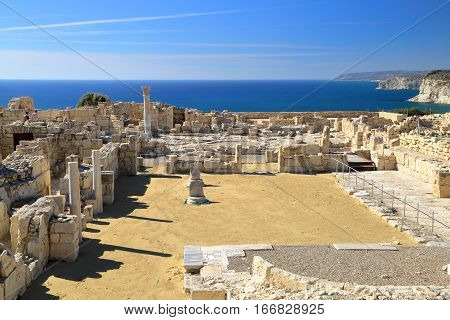 ANCIENT KOURION, CYPRUS: Archeological site near Pafos