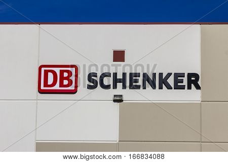 Indianapolis: Circa January 2017: DB Schenker USA Freight Forwarding Service Location I