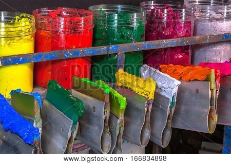 Store Of Plastisol Ink