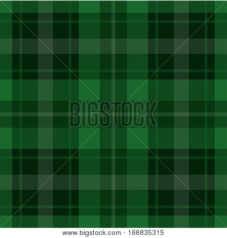 seamless illustration - green black tartan with squares and white stripes