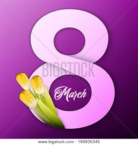 Vector womens day modern and creative background. Elegant greeting card design for International Womens Day celebration.