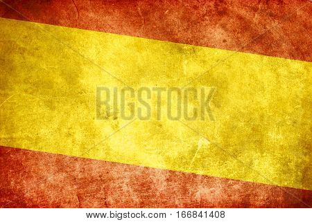 background of Grunge Spain flag in color