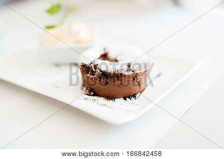 Beautiful Souffle And Vannila Ice Cream