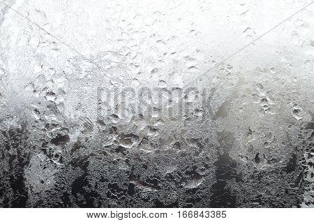 Icy Window Surface