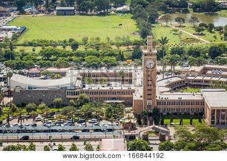 Kenya Parliament Buildings In The City Center Of Nairobi.