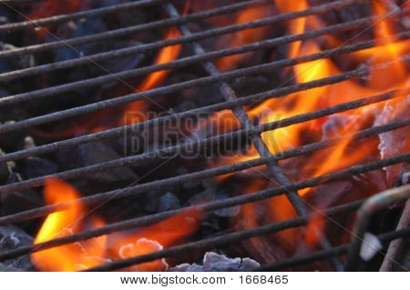 Flames In The Grill