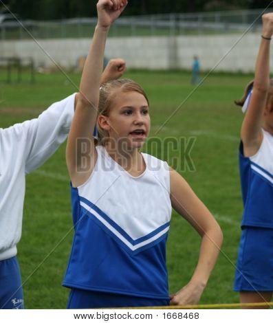 Youth Cheerleader Cheering At Game 3