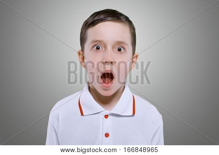 Concept Of Shocked Little Boy
