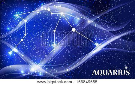 Symbol Aquarius Zodiac Sign. Vector Illustration EPS10