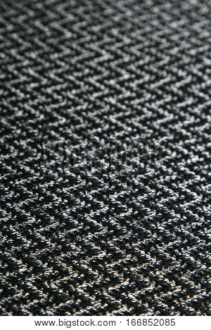black and white herringbone fabric for background