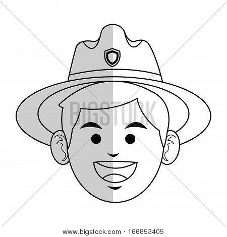 forest ranger icon over white background. vector illustration