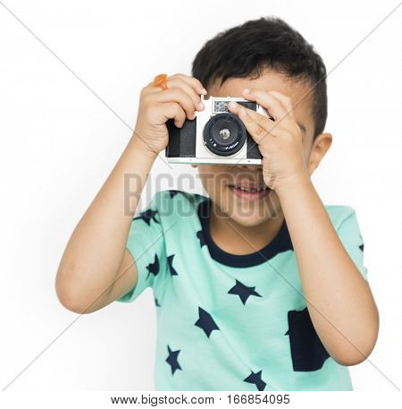 Camera Boy Photo Image Picture Son Kid Concept