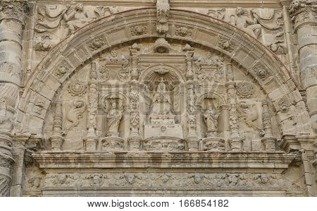 Detail of the Priory Church in The Port of Saint Mary a municipality located in the province of Cadiz Andalusia Spain