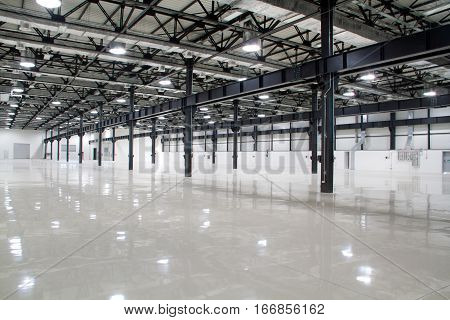 New modern storehouse background for industry places