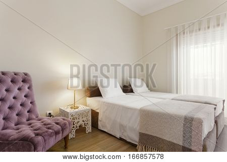 Bright and Fresh Bedroom Suite With Window