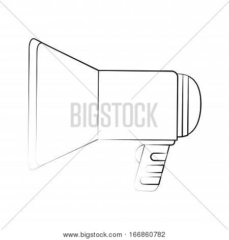 megaphone device icon over white background. vector illustration