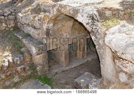 Charmylos tomb on island Kos, town Pili.