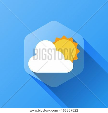 simple illustration of weather icon in flat style with soft long shadow. vector weather symbol design. can be used for web design, web site, app mobile or widget.