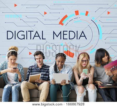 Digital Community Digital Social Media Icon