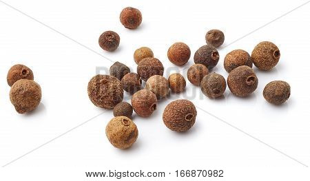Allspice isolated on white background. Food ingredient