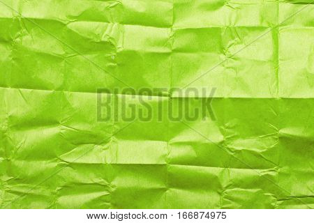 green tissue paper texture for background, copy space
