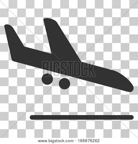 Aiplane Landing vector pictograph. Style is flat graphic symbol.