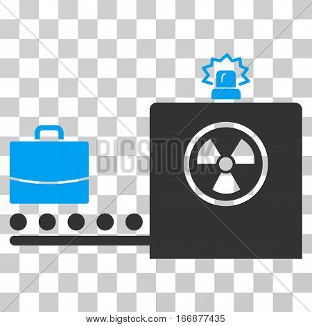 Baggage Screening vector pictograph. Style is flat graphic symbol.