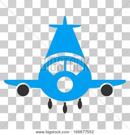 Cargo Plane vector pictogram. Style is flat graphic symbol.