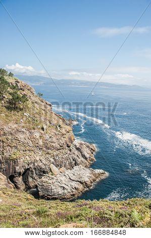 Coast of death, Galician sunligth seascape Spain